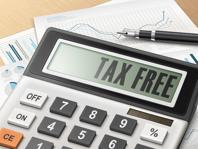 calculator with the word tax free