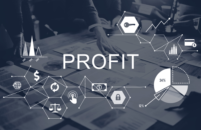 Profit Benefit Revenue Earnings Gain Gross Income Concept